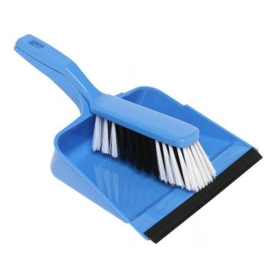 Dustpan & Brush Set, Plastic  Blue - Click for more info