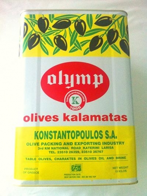 Kalamata Olives Pitted X-Jumbo 10kg - Click for more info