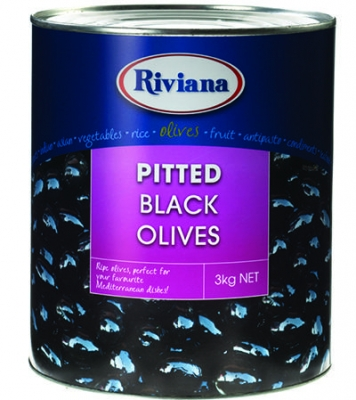 Black Olives Pitted 3kg - Click for more info