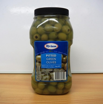 Green Olives Pitted 2kg - Click for more info