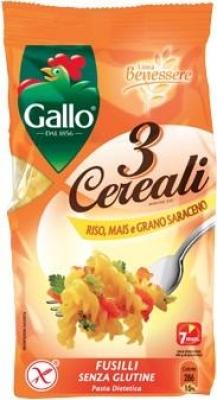 Fusilli 3 Cereal Pasta Gluten Free - Click for more info