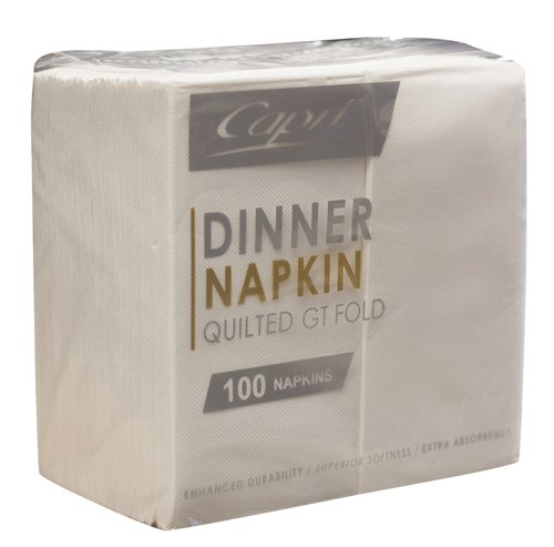 Napkin Dinner White Quilted (0171)* - Click for more info
