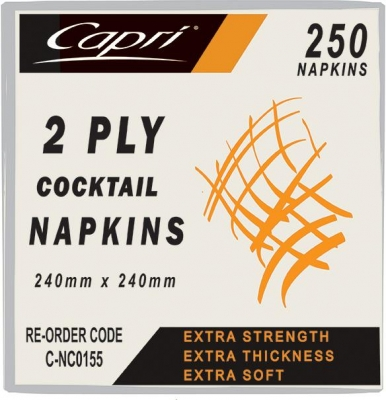 Napkin Cocktail 2-Ply White - Click for more info