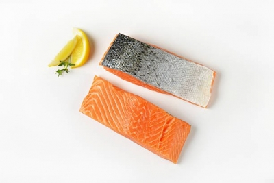 Salmon Portion Skin On 200g, 5kg - Click for more info