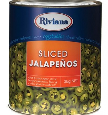 Jalapeno Sliced Peppers 3kg - Click for more info