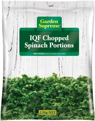 Spinach Chopped 4x2.5kg - Click for more info